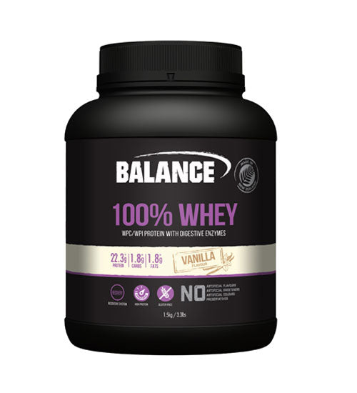 Buy BALANCE 100% WHEY PROTEIN 1.5kg + L-CARNITINE 60 CAPS this sports supplement from Payless Supplements, today