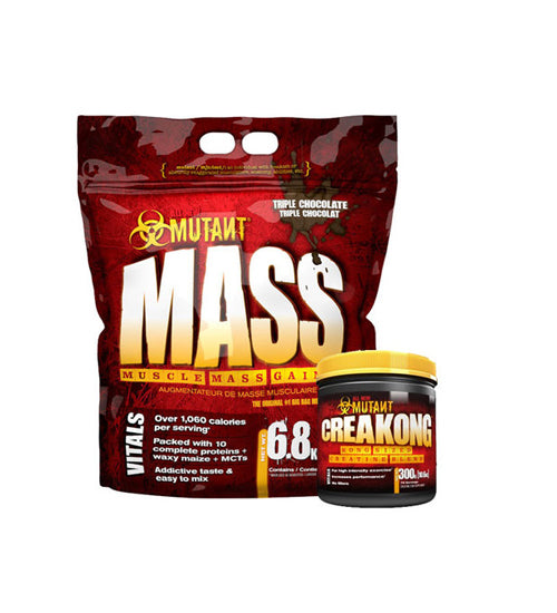 Buy Mutant Mass 15Lb + Creakong Combo this sports supplement from Payless Supplements, today