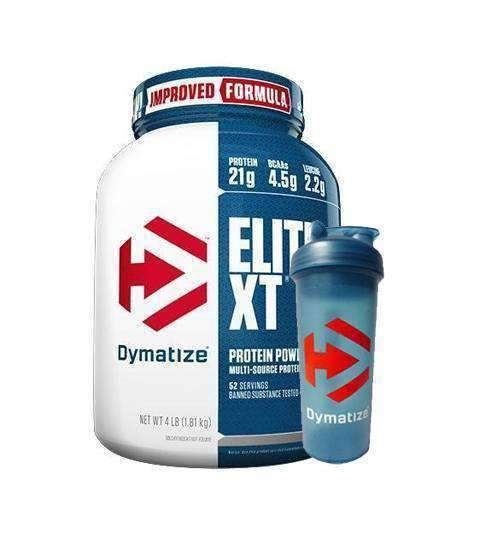 Buy Dymatize Elite XT + Free Shaker this sports supplement from Payless Supplements, today