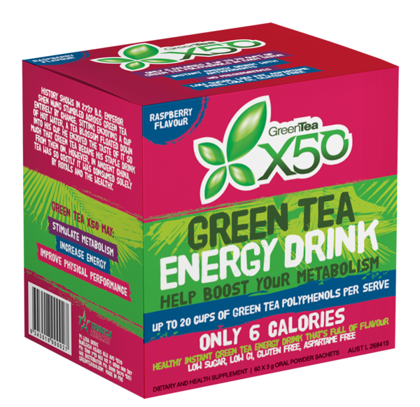 X50 GREEN TEA RASPBERRY NEW FORMULA
