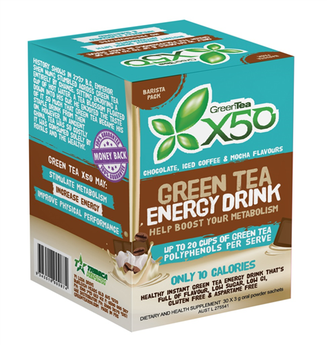 X50 GREEN TEA BARISTA BOX NEW FORMULA