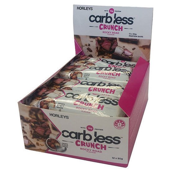 Buy HORLEYS CARB LESS CRUNCH BARS this sports supplement from Payless Supplements, today