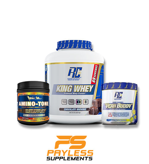 Buy Ronnie Coleman Stack - King Whey - Amino Tone - Yeah buddy this sports supplement from Payless Supplements, today