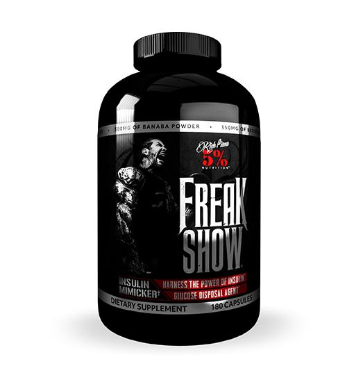Buy 5% Nutrition Freak Show Insulin Mimicker this sports supplement from Payless Supplements, today