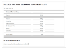 Buy Balance 100% Pure Glutamine Powder this sports supplement from Payless Supplements, today