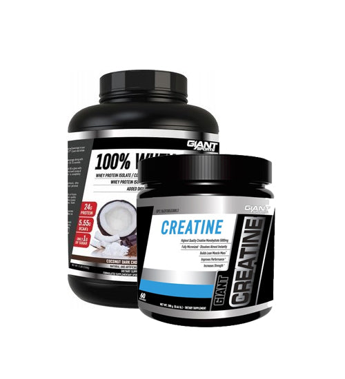 Buy Giant Sports 100% Whey 5Lb + Creatine this sports supplement from Payless Supplements, today