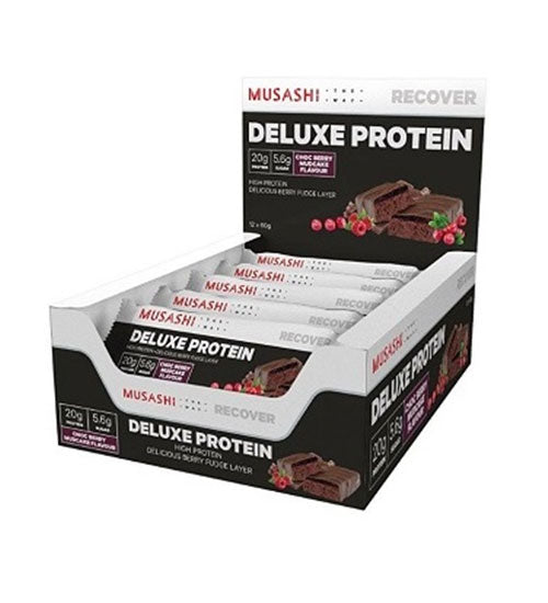 Buy Musashi Deluxe High Protein Bars this sports supplement from Payless Supplements, today