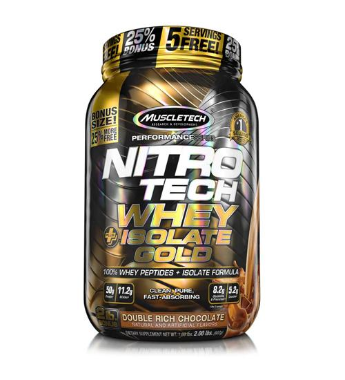 MuscleTech Nitro Tech Whey Plus Isolate Gold 2Lb