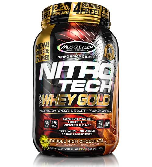 Buy MuscleTech NITRO TECH 100% WHEY GOLD 2.2LB this sports supplement from Payless Supplements, today