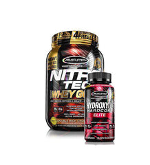 MUSCLETECH NITRO-TECH 100% WHEY GOLD 2.2LB + HydroxyCut Hardcore