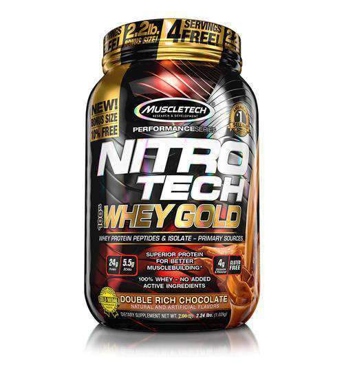 Buy MUSCLETECH NITRO-TECH 100% WHEY GOLD 2.2LB this sports supplement from Payless Supplements, today