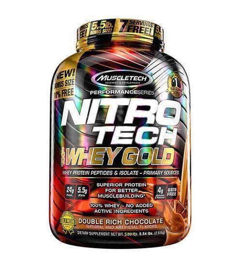 Buy MUSCLETECH NITRO-TECH 100% WHEY GOLD 5.5LB this sports supplement from Payless Supplements, today