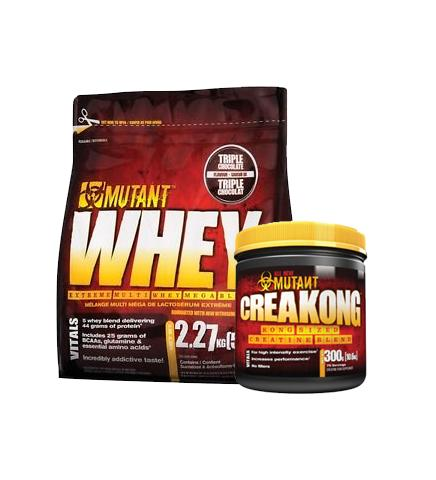 Buy MUTANT WHEY 5lb + Creatine this sports supplement from Payless Supplements, today