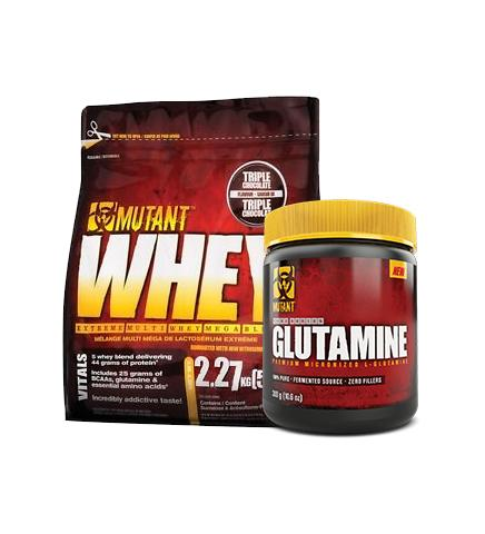 Buy MUTANT WHEY 5lb + Free Glutamine this sports supplement from Payless Supplements, today