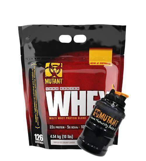 Buy Mutant Whey Protein 10lb + Mega Jug this sports supplement from Payless Supplements, today