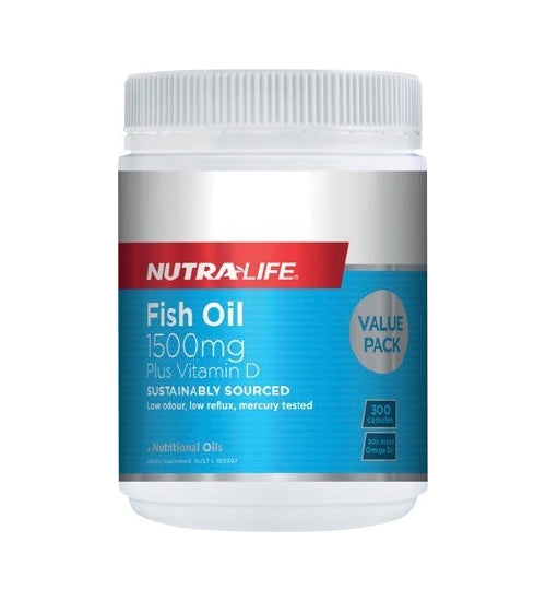 NutraLife OMEGA 3 FISH OIL 1500MG PLUS VITAMIN D
