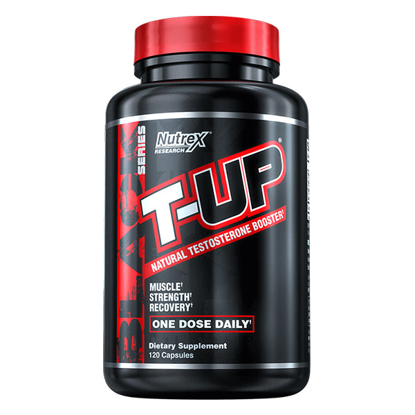 Buy NUTREX T-UP MEGA TESTOSTERONE BOOSTER 120 Caps this sports supplement from Payless Supplements, today