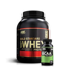 OPTIMUM NUTRITION 100% WHEY 5lb + BCAA 60 CAPS