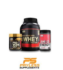 Optimum Nutrition Stack - Whey + Pre Workout + Amino Energy