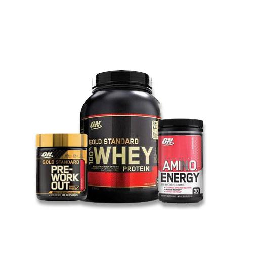 Buy Optimum Nutrition Stack - Whey + Pre Workout + Amino Energy this sports supplement from Payless Supplements, today