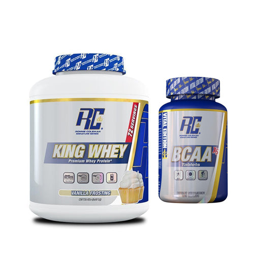 RONNIE COLEMAN KING WHEY + FREE BCAAs