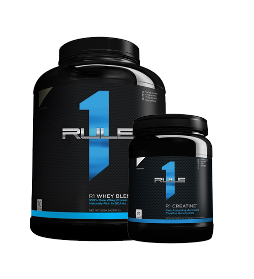 Buy Rule 1 Whey Blend 5Lb + Creatine 150g this sports supplement from Payless Supplements, today