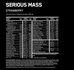 Copy of OPTIMUM NUTRITION SERIOUS MASS 12lbs