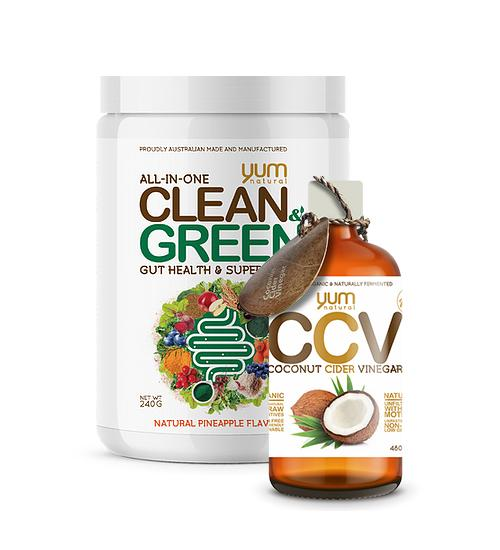 Yum Natural Clean & Green Superfood + Free Coconut Cider | TopDog Nutrition