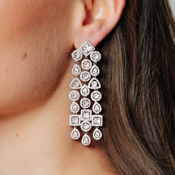 CZ Bridal Earrings & Wedding Jewellery by The Luxe Bride