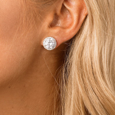 CZ Stud Bridal Earrings by The Luxe Bride
