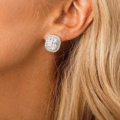 Crystal Stud Bridal & Wedding Earrings by The Luxe Bride