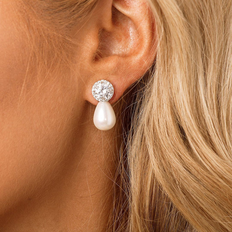 Pearl Bridal & Wedding Earrings by The Luxe Bride