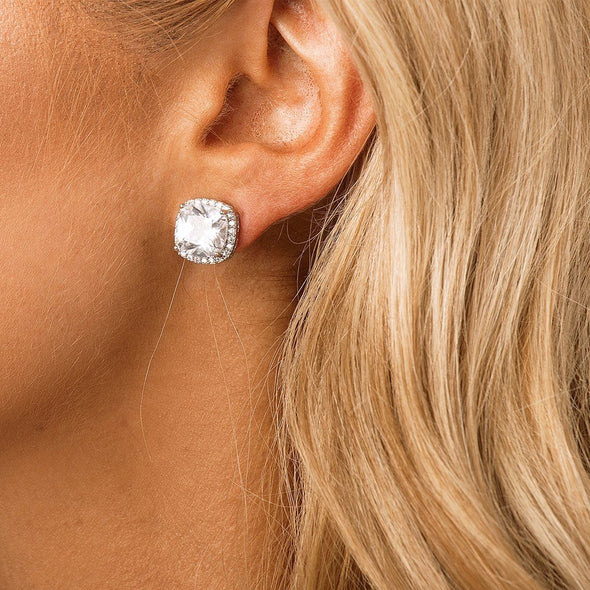 CZ Stud Bridal & Wedding Earrings by The Luxe Bride