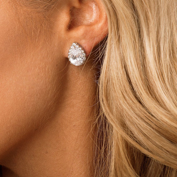 Stud Bridal & Wedding Earrings by The Luxe Bride