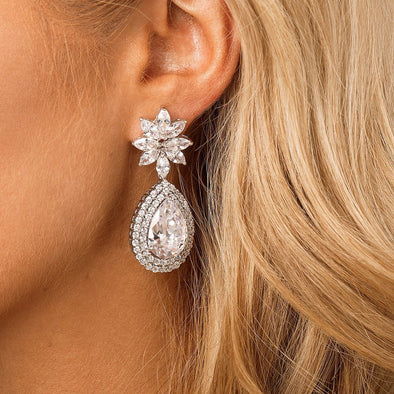 CZ Statement Bridal & Wedding Earrings by The Luxe Bride