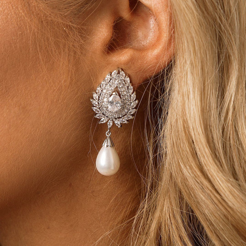 Pearl Statement Bridal & Wedding Earrings by The Luxe Bride