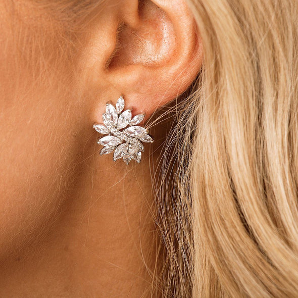 CZ Bridal & Wedding Earrings by The Luxe Bride