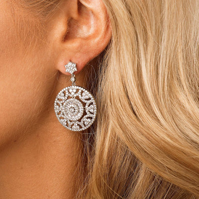 Crystal Statement Bridal & Wedding Earrings by The Luxe Bride
