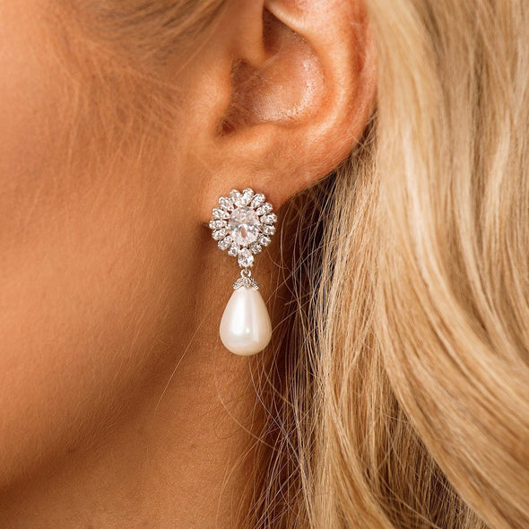 Pearl Bridal Earrings & Wedding Jewellery by The Luxe Bride