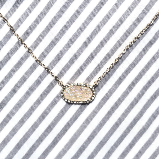 Hampton Druzy Necklace in Opal