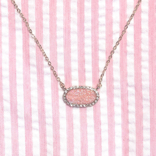 Push Prize- Eloise Druzy Necklace in Rosé