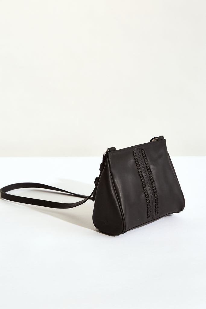 BLACK MOON Megan Mini Acrossbody - made in Australia with New Zealand Leather - Back View