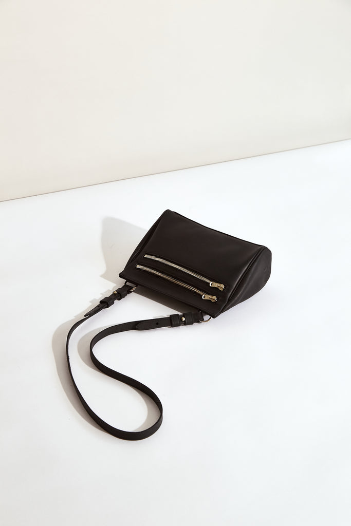 BLACK MOON Megan Mini Acrossbody - made in Australia with New Zealand Leather - front view