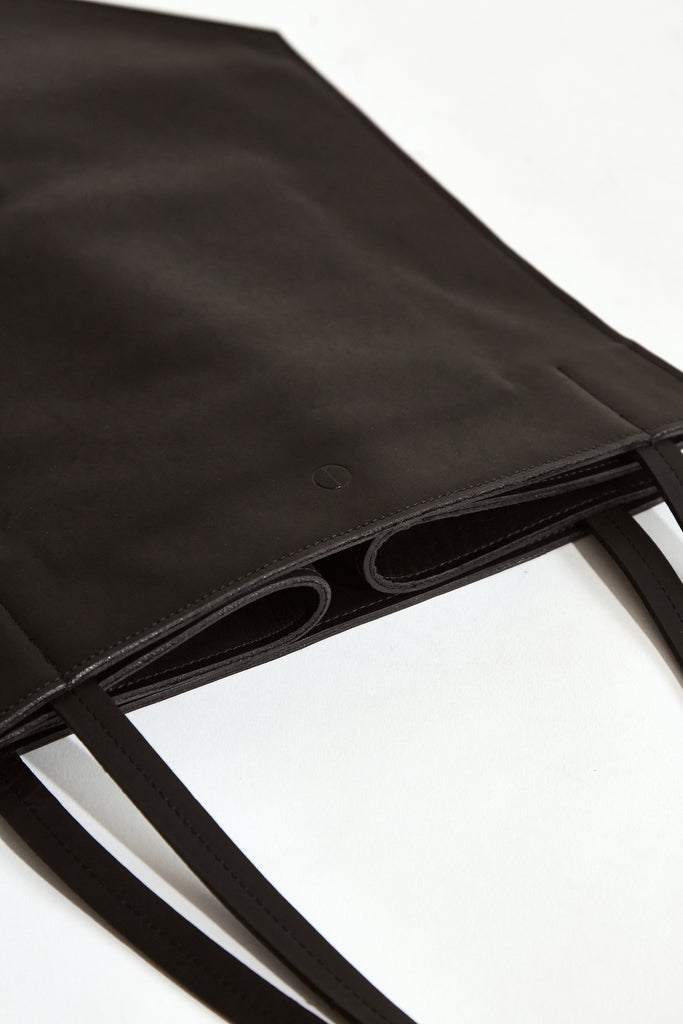 BLACK MOON Clare Collapsible Tote - Made in Australia with New Zealand Leather