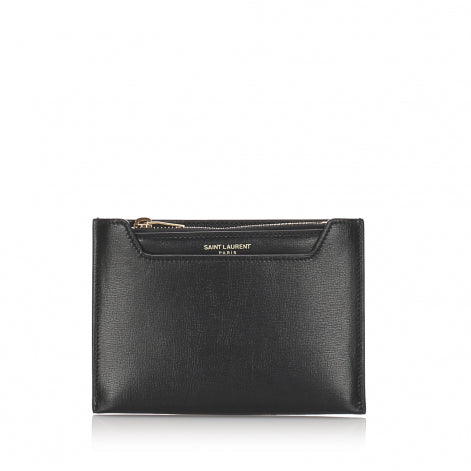 YSL Leather Coin Pouch - Olive Street