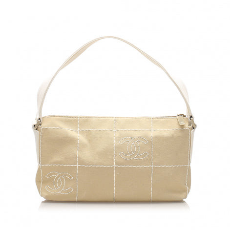 Chanel Choco Bar Canvas Baguette