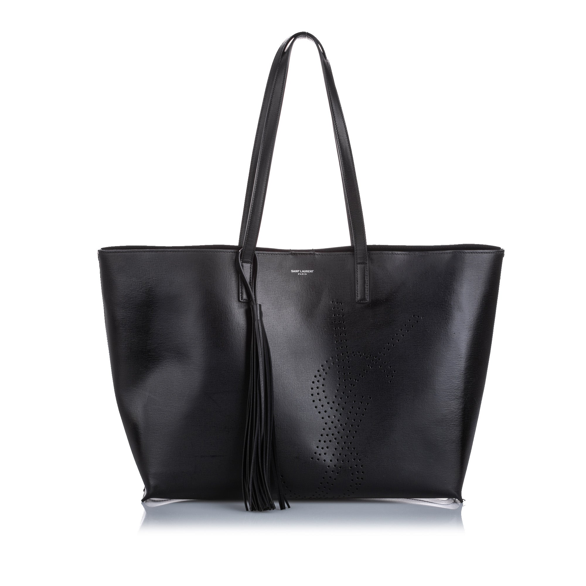 YSL Perforated Leather Shopping Tote