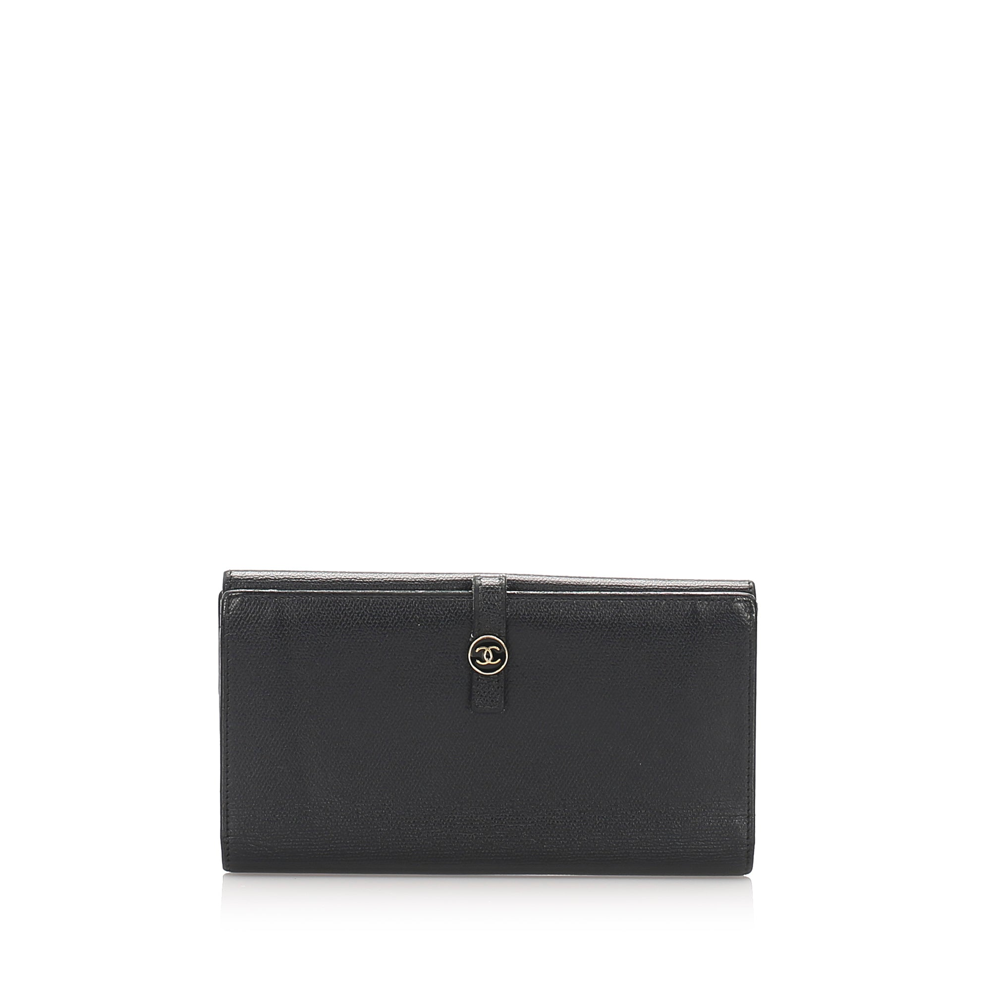 Chanel CC Leather Long Wallet - Olive Street