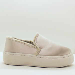 Satin Slip On Sneaker