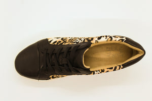 Leopard Leather Sneaker